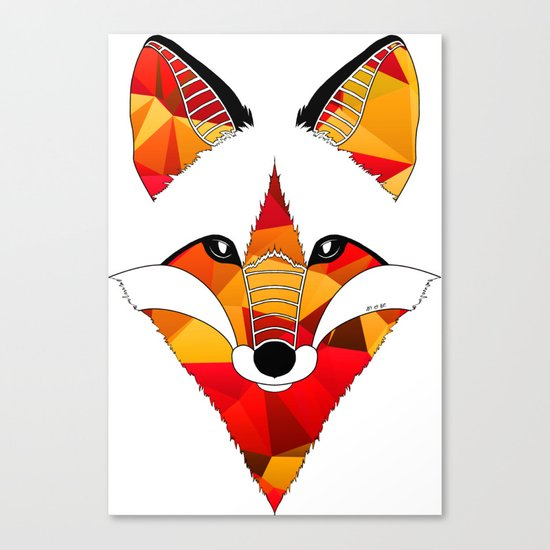 Fire Fox Canvas Print