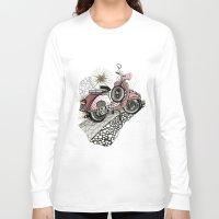 vespa Long Sleeve T-shirts featuring Vespa by Mariqui Romero