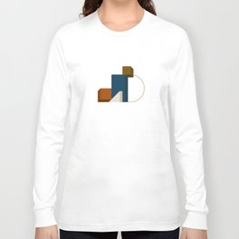 Abstrato 02 // Abstract Geometry Minimalist Illustration Long Sleeve T-shirt