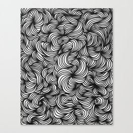 Blackwhite Waves Canvas Print