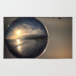 Capturing Avila Beach refraction photography crystal ball Rug