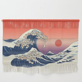 The Great Wave of Corgis Wall Hanging