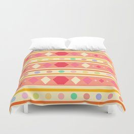 Happy Tribal Pattern Duvet Cover