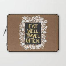 Eat Well, Travel Often (on Kraft) Laptop Sleeve