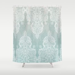 grey and aqua shower curtain. Lace  Shadows soft sage grey white Moroccan doodle Shower Curtain Ombre Curtains Society6