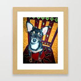 Cujo in the Hot Seat Framed Art Print