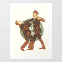 british Art Prints featuring British Made by peter O'Toole