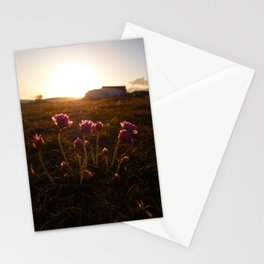 Flowers sunset 1 Stationery Cards