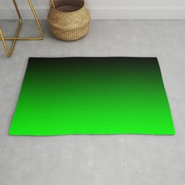 Black Lime Green Neon Nights Ombre Rug