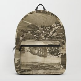 Vintage Map of Valley Forge PA (1890) Backpack