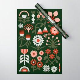 Winter Wrap: Green Wrapping Paper