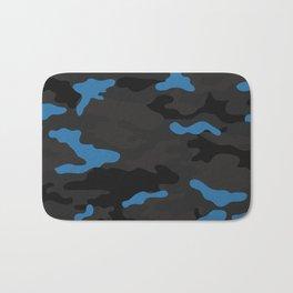 Blue camouflage Bath Mat