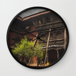 Architecture of Kathmandu City 001 Wall Clock