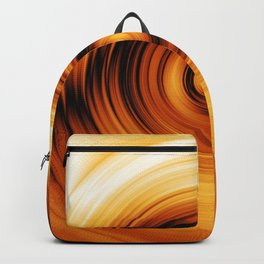 circles rings golden background geometric shapes abstract art geometry Backpack