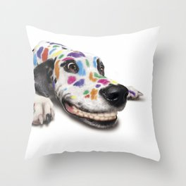 Spotted dog#3 Throw Pillow