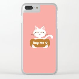 Hug Me Nyanko Clear iPhone Case