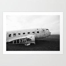 Iceland Plane Wreckage DC-3 Art Print