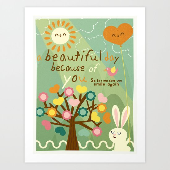 beautiful day Art Print