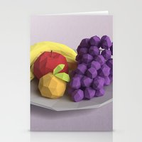 fruit Stationery Cards featuring Fruit by CharismArt