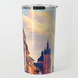 Cracow Florianska street Travel Mug