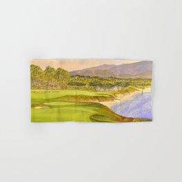 Pebble Beach Golf Course Holes 9 and 10 Hand & Bath Towel