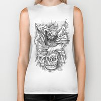 drums Biker Tanks featuring Death Drums by Mark Holden