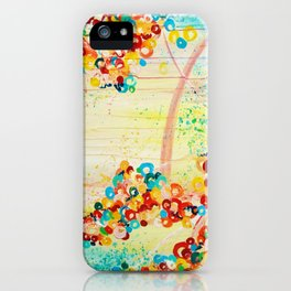 SUMMER IN BLOOM - Beautiful Abstract Acrylic Painting Vibrant Rainbow Floral Nature Theme  iPhone Case