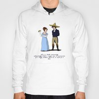 pride and prejudice Hoodies featuring Pride and Prejudice and Tacos by mikaelak