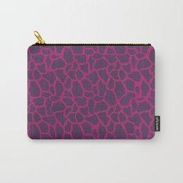 Plum Raspberry Giraffe Carry-All Pouch