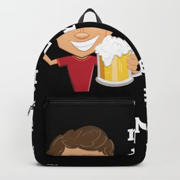 Beer Saying Backpack