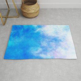 sky dye series, blue Rug