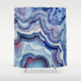 Agate lace Shower Curtain