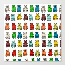 Cute Gummy Bear Candy Collage Canvas Print