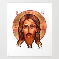 christ Art Prints featuring Jesus Christ by oxana zaika