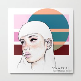 Swatch Series - TUMBLR GRL Metal Print
