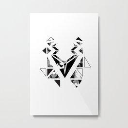 Black geometric animal Metal Print