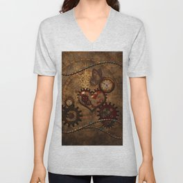 Steampunk, noble design Unisex V-Neck