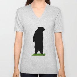 Grassy Bear Unisex V-Neck