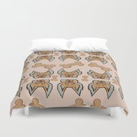 yorkie Duvet Covers featuring New Yorkie by Brianna Heyer