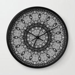 Black and White Lace Mandala A541B Wall Clock