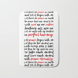 Let There Be Peace on Earth Bath Mat