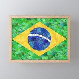 BRASIL em progresso Framed Mini Art Print