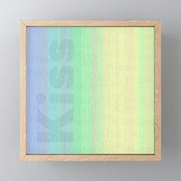 kiss word on rainbow background Framed Mini Art Print