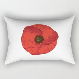 poppy .. lest we forget Rectangular Pillow