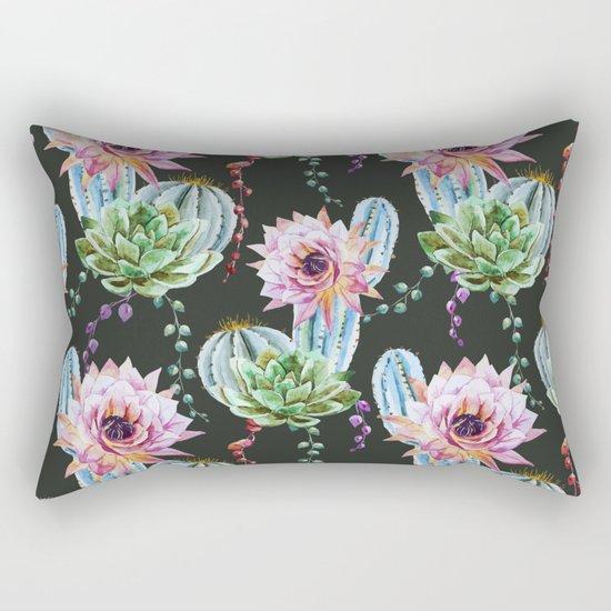 Cactus Pattern 09 Rectangular Pillow