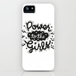 Power to the Girls iPhone Case