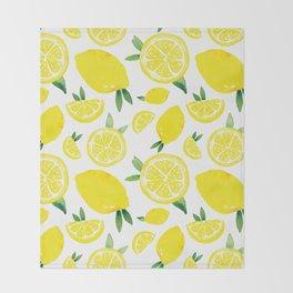Zesty Lemon Pattern Throw Blanket