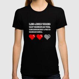 Les jeux vidéo ont gâché ma vie (dark) T-shirt