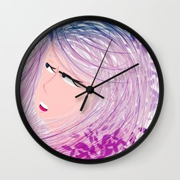 leaves of depression and sorrow Wall Clock
