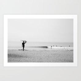 Surf Malibu Art Print